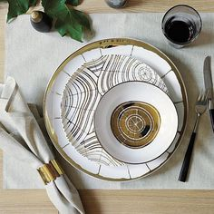 David Stark Wood Slices Plates Set - Home Decorating Trends. possibly something like this but darker, perhaps?