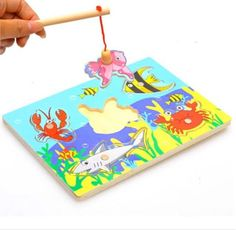 wholesale price Funny Wooden Magnetic board Fishing Game & Jigsaw Puzzle pizarra infantil Children Toy good gift for kids - Kid Shop Global - Kids & Baby Shop Online - baby & kids clothing, toys for baby & kid Wooden Toys For Toddlers, Wooden Baby Toys, Toddler Toys, Kids Toys, Boy Toys, Puzzles 3d, Puzzles For Kids, Cool Gifts For Kids, Kids Gifts