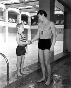 Jackie Cooper meets Johnny Weissmuller