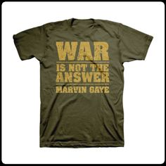 """Marvin Gaye's """"War Is Not The Answer"""" T Shirt"""