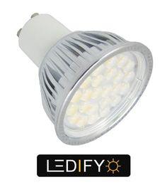 50W + Halogen GU10 Equivalent - High Power LED SMD Bulb - Medium Beam £6.99 Warm & Cool White