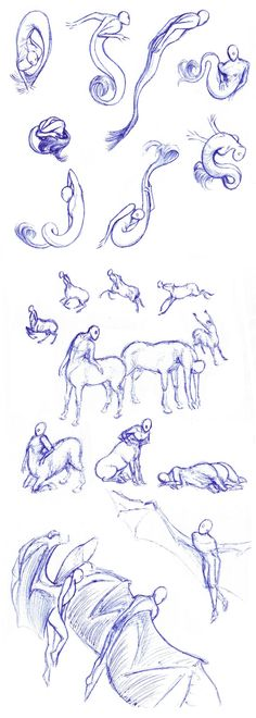 Sirens, centaurs, winged - poses by Batri.deviantart.com on @DeviantArt                                                                                                                                                                                 More