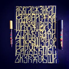 Abstract Russian Calligraphy
