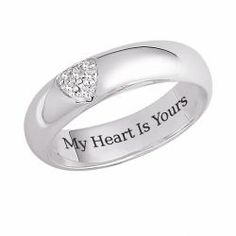 overstock my heart is yours ringsterling silver jewelryclick here for ring sizing - 25th Wedding Anniversary Rings