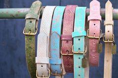 Blij om mijn nieuwste leren riem toevoeging aan mijn #etsy shop te kunnen delen: Leather belt Unique handcrafted in Holland #accessoires #riem #beige #amsterdam #designer #coachella #fashion
