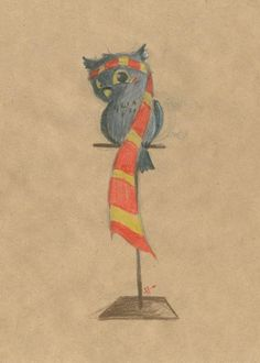 Harry Potter / Owl Gryffindor by b Harry Potter Fan Art, Harry Potter Universal, Harry Potter Fandom, Mischief Managed, Fantastic Beasts, Hogwarts, Crests, Houses, Nerdy