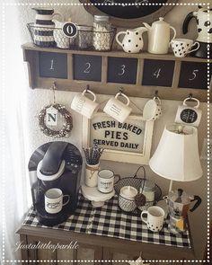 Coffee station, coffee corner, coffee bar, cute coffee bar.