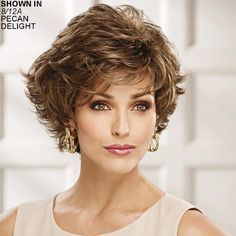 Shop our online store for short hair wigs for women. These natural hair and synthetic wigs fit mini petite, petite, average and large head sizes. Wig styles include straight, curly and wavy hair in your favorite pixie, bob or cropped hairstyle. Short Hair Wigs, Wavy Hair, Wig Hairstyles, Wedding Hairstyles, Popular Hairstyles, Hairstyle Ideas, Edgy Haircuts, How To Cut Bangs, Short Wedding Hair