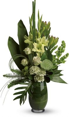 Order Limelight Bouquet from H. Cannon Floral & Greenhouses, Inc., your local Arlington florist. Send Limelight Bouquet for fresh and fast flower delivery throughout Arlington, TX area. Tropical Flowers, Tropical Flower Arrangements, Church Flower Arrangements, Beautiful Flower Arrangements, Exotic Flowers, Beautiful Flowers, Green Flowers, Contemporary Flower Arrangements, Green Rose