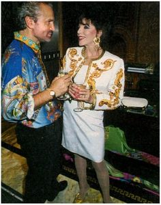 80S GLAMOUR stolen-future: Gianni Versace and Joan Collins