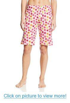 ef73235cb8 Hue Sleepwear Women's Spring Bloom Bermuda, White, Small at Amazon Women's  Clothing store: