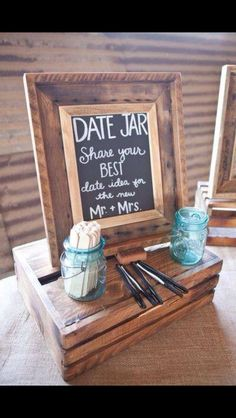 Date jar for wedding guests