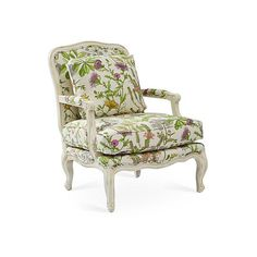 Harper Bergère Wild Oasis Accent & Occasional Chairs ($1,999) ❤ liked on Polyvore featuring home, furniture, chairs, accent chairs, floral accent chair, cream accent chair, upholstery chairs, white accent chair and cream chair