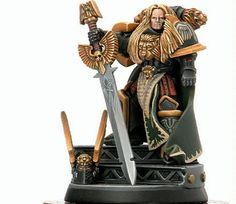 Dark Angels Primarch, Lion El Johnson. Space Marines, Warhammer 40k Miniatures.