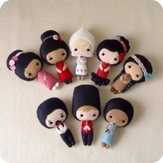 More International Felt Doll Ideas