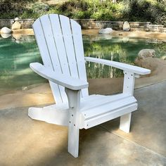 You can enjoy both laid-back style and ultimate comfort with the Shine Company Royal Palm Adirondack Chair . Adirondack Chairs For Sale, Plastic Adirondack Chairs, Outdoor Chairs, Outdoor Furniture, Outdoor Decor, Patio Chairs, Wood Folding Chair, Cosy Apartment, Laid Back Style