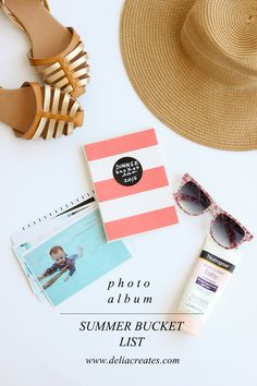 photo album summer bucket list // Delia Creates