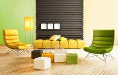 Pokój dzienny (kolory Śnieżka Barwy Natury:101 POSREBRZANE ŻYTO, 154 POWIEW WIOSNY)