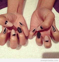 uñas de punta color negro - Buscar con Google
