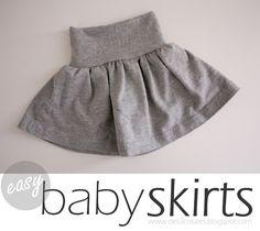 DIY Nesting: Easy Baby Skirts - delia creates