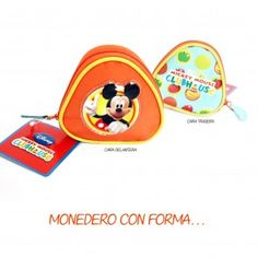 Monedero mickey triangular