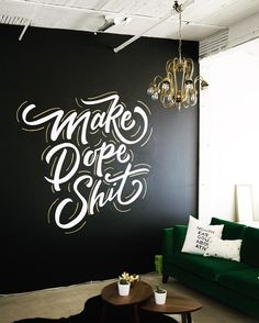 Easy and Cheap Method for DIY Wall Words - Are you bored of your room appearance and paint and you cannot redo the paint at the moment for any reason, then don`t worry there is a cheap option a. Office Mural, Office Walls, Office Wall Art, Painting Quotes, Wall Art Quotes, Quotes On Walls, Quote Paintings, Diy Wall Painting, House Painting
