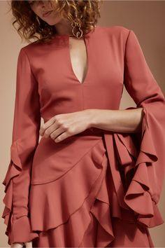 GOSSAMER LONG SLEEVE DRESS rosewood | C/MEO COLLECTIVE | BNKR