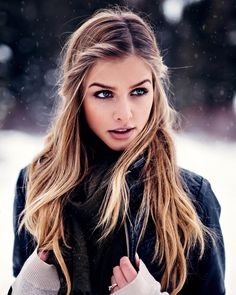 """56.6k Likes, 460 Comments - Marina Laswick (@marooshk) on Instagram: """"Baby, it's cold outside ❄️ <throwback to a snowy shoot with @trungywin>"""""""