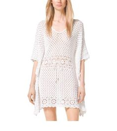 Designer #Crochet #Fashion from Michael Kors including this tunic dress