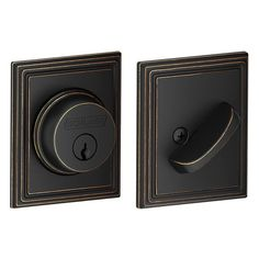 View the Schlage B60N-ADD Single Cylinder Grade 1 Deadbolt with Decorative Addison Rose at Handlesets.com.