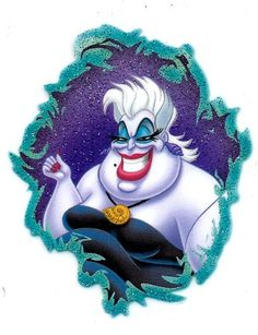 Ursula in Little Mermaid Movie Sea Witch octopus under the sea Disney Heat Iron On Transfer for T-Shirt ~ Disney Villain I'd use this and/or an Ariel Iron on transfer with iron on transfer letters to transform my theater camp tie-dye costume shirt into shirt that I can remember the camp by :) They weren't making the dated shirts or whatever this year, unfortunately, so I'll make my own :D