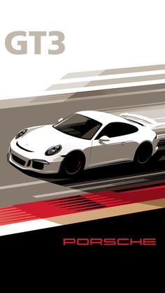 GT3 poster designs by Porsche to attract a new generation of fans on Instagram and Mobile. #porschegt3interior