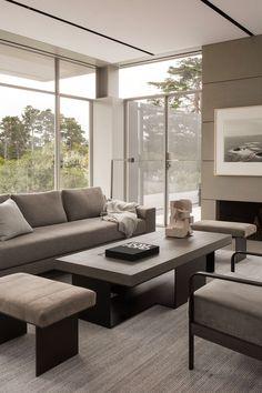 California Homes, California Coast, Northern California, New Living Room, Living Spaces, Beach Interior Design, Level Homes, Pebble Beach, Living Room Designs