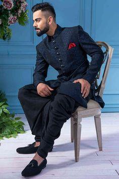 Solemn Blue Indo Western - Fusion Wear Online for Men - Manyavar.com