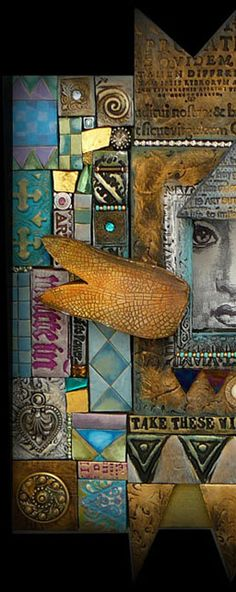 MikaArts. Laurie Mika is a wonderfully creative mixed-media mosaic artist. She's an inspiration to me!