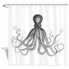 Octopus Shower Curtain on CafePress.com