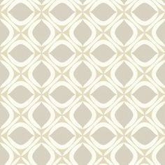 Foxy Wallpaper York Wallcoverings Wallpaper York Wallcoverings Beiges Grays Whites Contemporary Wallpaper Geometric Wallpaper, Sure Strip, Easy to clean , Easy to wash, Easy to strip