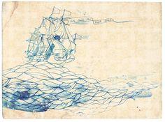 high seas fine art print - a Sweet William illustration on archival paper.. $25.00, via Etsy.