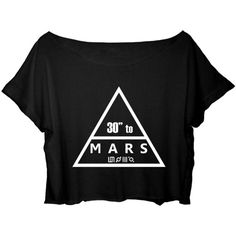 ASA Women's Crop Top Thirty Seconds to Mars Shirt Jared Leto 30... ❤ liked on Polyvore featuring tops, t-shirts, jar tops, t shirts, cut-out crop tops, shirt top and tee-shirt