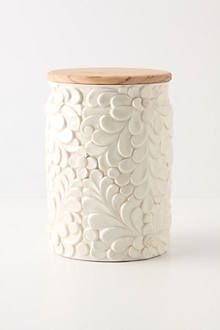 This canister is too elegant for my kitchen, but would be perfect for my bathroom.
