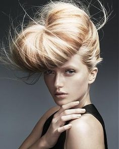 long blonde straight coloured sculptured updo hairstyles for women    FOR #HAIRSTYLES, ADVICE AND IDEAS VISIT  WWW.UKHAIRDRESSERS.COM