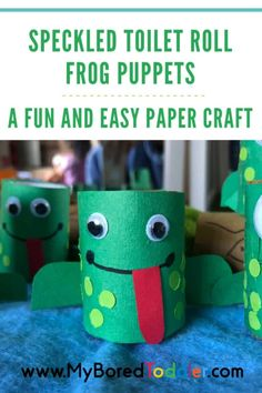 We love making things put of items usually otherwise discarded. This fun craft activity utilizes a disposable item that almost every household has available at some point during the week – the good old toilet roll! Teamed up with some colored paper, welcome some cute and quirky Speckled Toilet Roll Fog Puppets!  #toddler #toddlercrafts #myboredtoddler