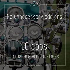 No unnecessary add ons! Choose from 10 different apps to help build a control panel that suits you, keeping your CRM and business refined!   Click  for a free trial and a closer look at the apps we offer.