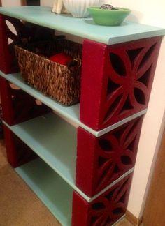 - New diy shelves cinder blocks bricks ideas Cinder Block Furniture, Wood Patio Furniture, Brick Shelves, Plant Shelves, Corner Shelves, Shelving, Cinder Block Shelves, Cinder Blocks, Bookshelves In Living Room