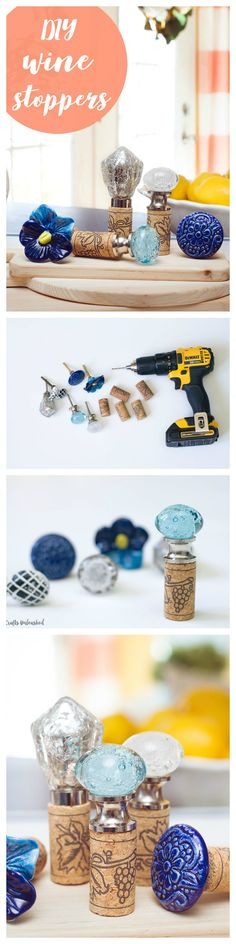 I loved the idea of making DIY Wine Stoppers for the house, this is such a simple DIY project you can have done in no time! Perfect for a housewarming or hostess gift.
