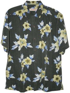 99b0c5d424 Tommy Bahama Palace Floral Silk Camp Shirt (Color  Black