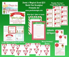 Santa's Magical Scout Elf & North Pole Breakfast Printable Set