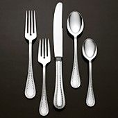 "Vera Wang Wedgwood ""Grosgrain"" 5 Piece Place Setting"