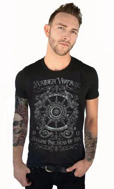 Bon Voyage. MAIDEN VOYAGE MENS TEE BY SERPENTINE #Serpentine #Shirts #MensFashion #Style #StreetFashion #Models #Tattoos #MenWithTattoos #RebelInk