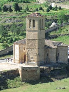 Segovia; ancient church downhill from the castle.  Has twelve sides, representing the apostles